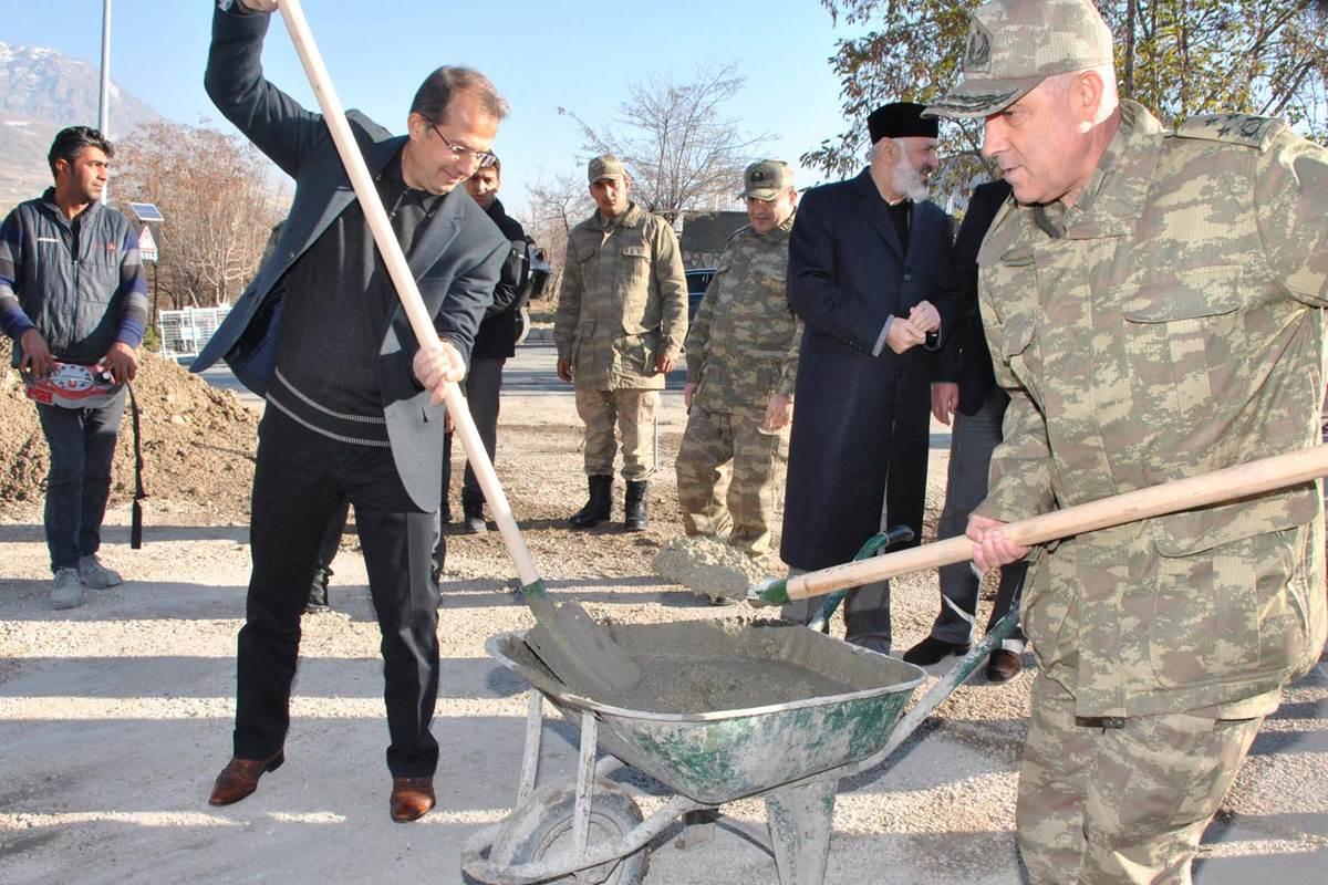 Jandarma Asayiş Kolordu Komutanlığı Kışlasında Cami Temeli Atıldı