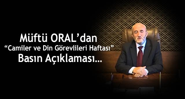 """""""Camiler ve Din Görevlileri Haftası"""" Basın Açıklaması…"""