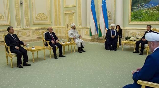 Başkan Erbaş, Özbekistan Cumhurbaşkanı Mirziyoyevile görüştü.