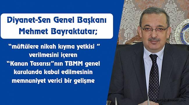 Diyanet-Sen'in Teklifi TBMM'de Kabul Edildi