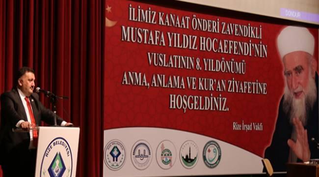 Zavendikli Mustafa Yıldız Hoca Efendi Rize'de Anıldı