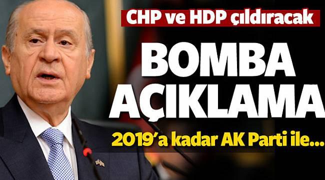 Bahçeli'den AK Parti ile işbirliği mesajı