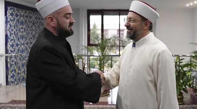 Başkan Erbaş, Reisul Ulema Nasufoviç'i kabul etti.