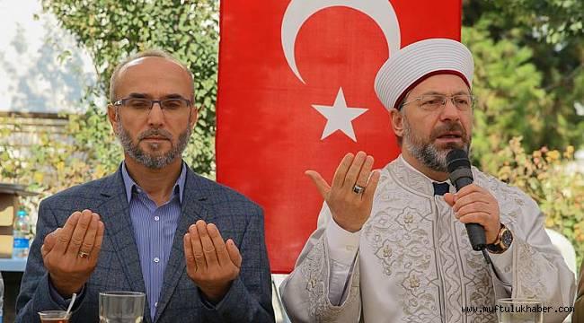 Başkan Erbaş Şehit Polis Taşdemir'in ailesine taziye ziyareti.