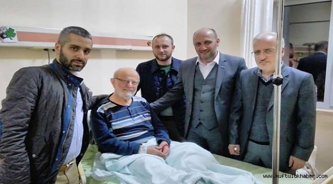 GÜNHAFDER, Necati Hutoğlu Hocayı Hastanede ziyaret etti