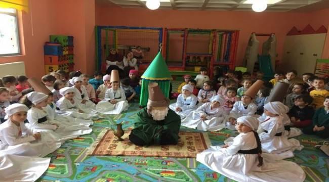 Minik Öğrenciler, Mevlana'yı Anma Haftasını Kutladılar