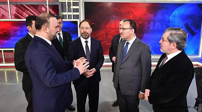 Başbakan Yardımcısı Bozdağ, Diyanet Tv ziyaret etti