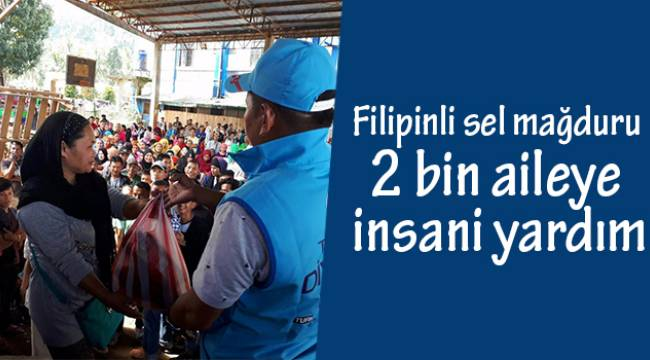 Filipinli sel mağduru 2 bin aileye insani yardım