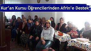 Kur'an Kursu Öğrencilerinden Afrin'e Destek