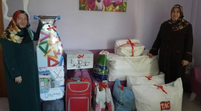 Rize Müftülüğünden Türkmen Gence Çeyiz Yardımı