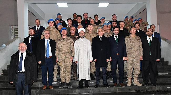 Başkan Erbaş dan,JÖH Tabur Komutanlığına ziyaret