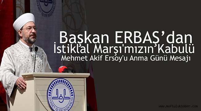 Başkan ERBAŞ dan Anma Mesajı