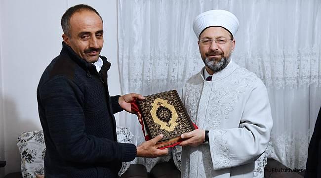 Şehit Abdüsselem Özatak'ın baba evine ziyaret