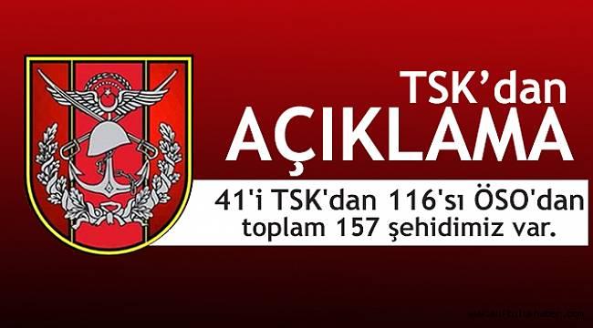 TSK Açıkladı