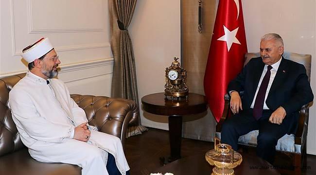 Başbakan Binali Yıldırım, Başkan Ali Erbaş'ı kabul etti