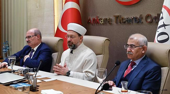 Başkan Erbaş, ATO Başkanı Baran'ı ziyaret etti