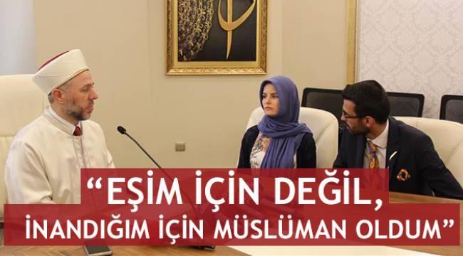 """Jurgita KERBELYTE"", kelime-i şehadet getirerek Müslüman oldu."