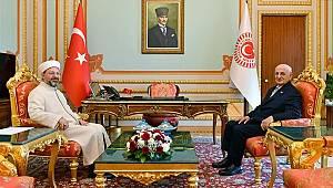 TBMM Başkanı Kahraman, Başkan Erbaş'ı kabul etti