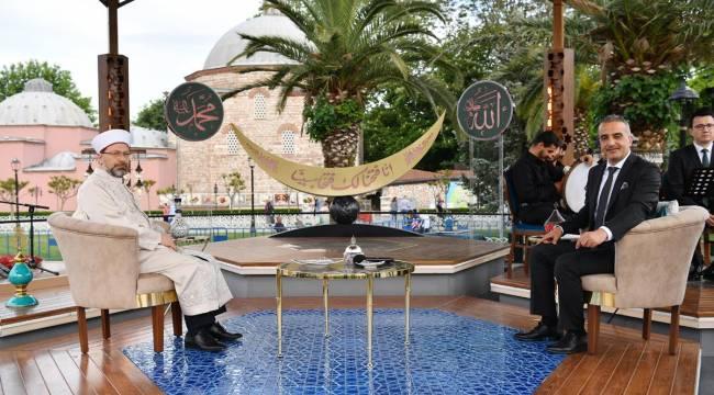 Başkan Erbaş, TRT 1'de 'Ramazan Sevinci' programına katıldı