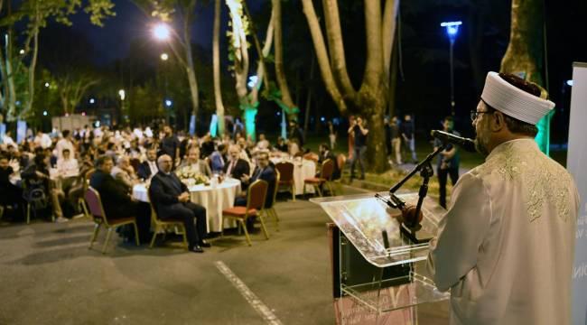 Erbaş,Daru'l-Fünun İlahiyat Vakfının iftar programına katıldı