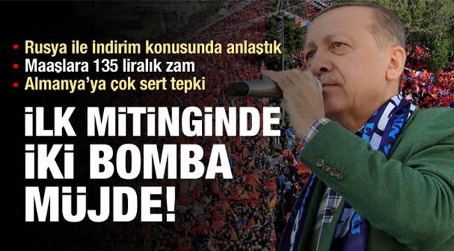 Erdoğan'dan Erzurum'da indirim müjdesi