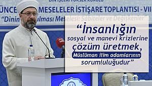 İstanbul da 8. Güncel Dinî Meseleler İstişare Toplantısı