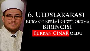 Kur'an-ı Kerimi Güzel Okuma Dünya Birincisi Furkan ÇINAR olddu.