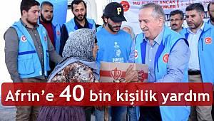 TDV den Afrin'e 40 bin kişilik yardım