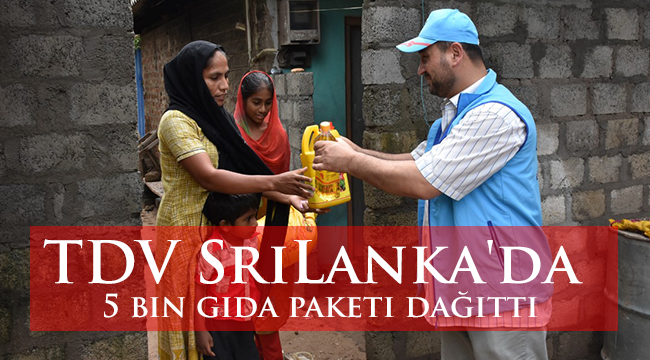 TDV Sri Lanka'da 5 bin gıda paketi dağıttı