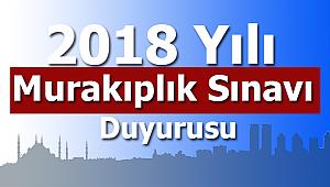 2018 Yılı Murakıplık Sınavı Duyurusu