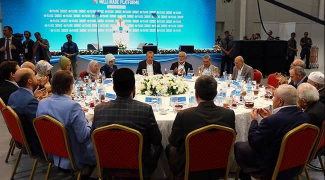 Erbaş, Milli İrade Platformu STK İftarına katıldı