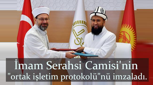 Başkan Erbaş Maksatbek Hacı Toktomushev'i kabul etti.