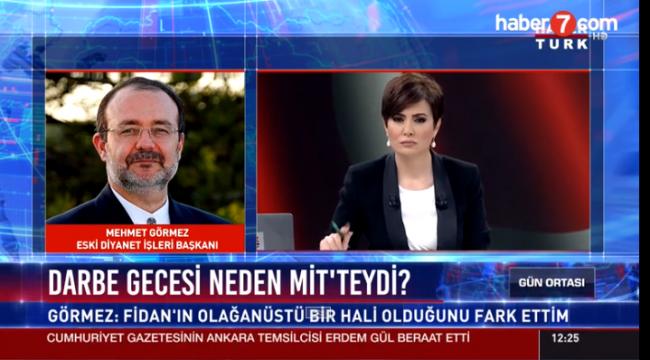 Mehmet Görmez 15 Temmuz akşamını anlattı