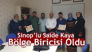 Sinop'lu Saide Kaya Bölge Biricisi Oldu