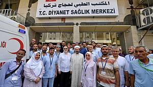 Ali Erbaş,Mekke Hastanesinde hastaları ziyaret etti.