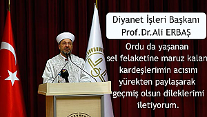 Başkan Ali Erbaş dan Geçmiş olsun Mesajı