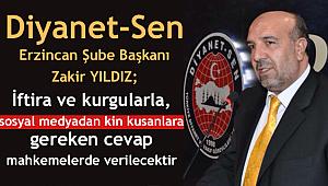 Diyanet-Sen Erzincan Şube Başkanından Açıklama