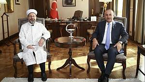 Erbaş'tan Dışişleri Bakanı'na hayırlı olsun ziyareti