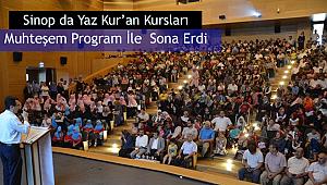 Sinop da Yaz Kur'an Kursları Sona Erdi