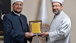 Erbaş, Irak Fıkıh Akademisi Başkanını kabul etti