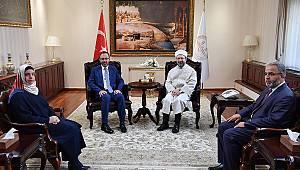 Bakan Kasapoğlu'ndan Başkan Erbaş'a ziyaret