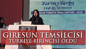 Giresun temsilcisi Türkiye birincisi oldu