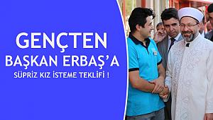 Ordulu Genç ten Başkan ERBAŞ'a Süpriz Teklif