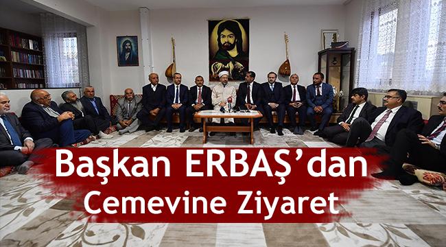 Diyanet İşleri Başkanı Erbaş, Tunceli'de cemevini ziyaret etti.