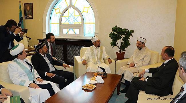 Erbaş Toplumsal Kalkınma Bakanı Kaletayevi Ziyaret Etti