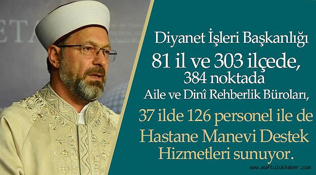 """Erbaş, """"Türkiye'de Manevi Rehberlik"""" panelinde konuştu"""