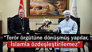 Erbaş, Vatikan'ın Ankara Büyükelçisi Russell'i kabul etti.