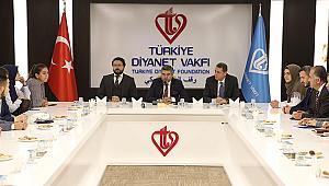Türk Öğrencilerden Diyanet Vakfına ziyaret
