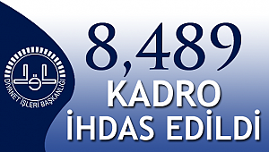 Diyanet'e 8,489 Kadro İhdas edildi.