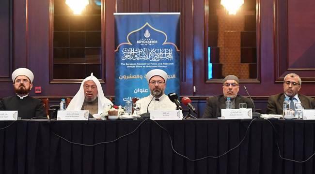 Erbaş, Fetva ve Araştırmalar Meclisi Toplantısı'nda konuştu.